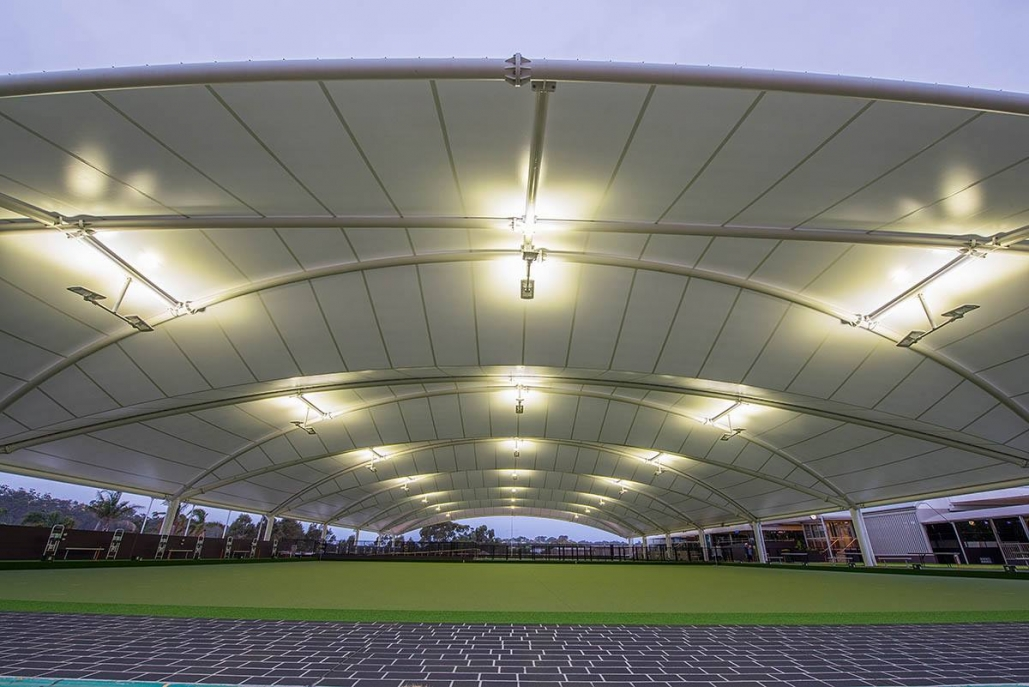 high quality LED lighting installed at the bowls club