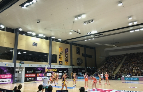 Lights, Camera, Action for Nationally Televised Netball Stadium