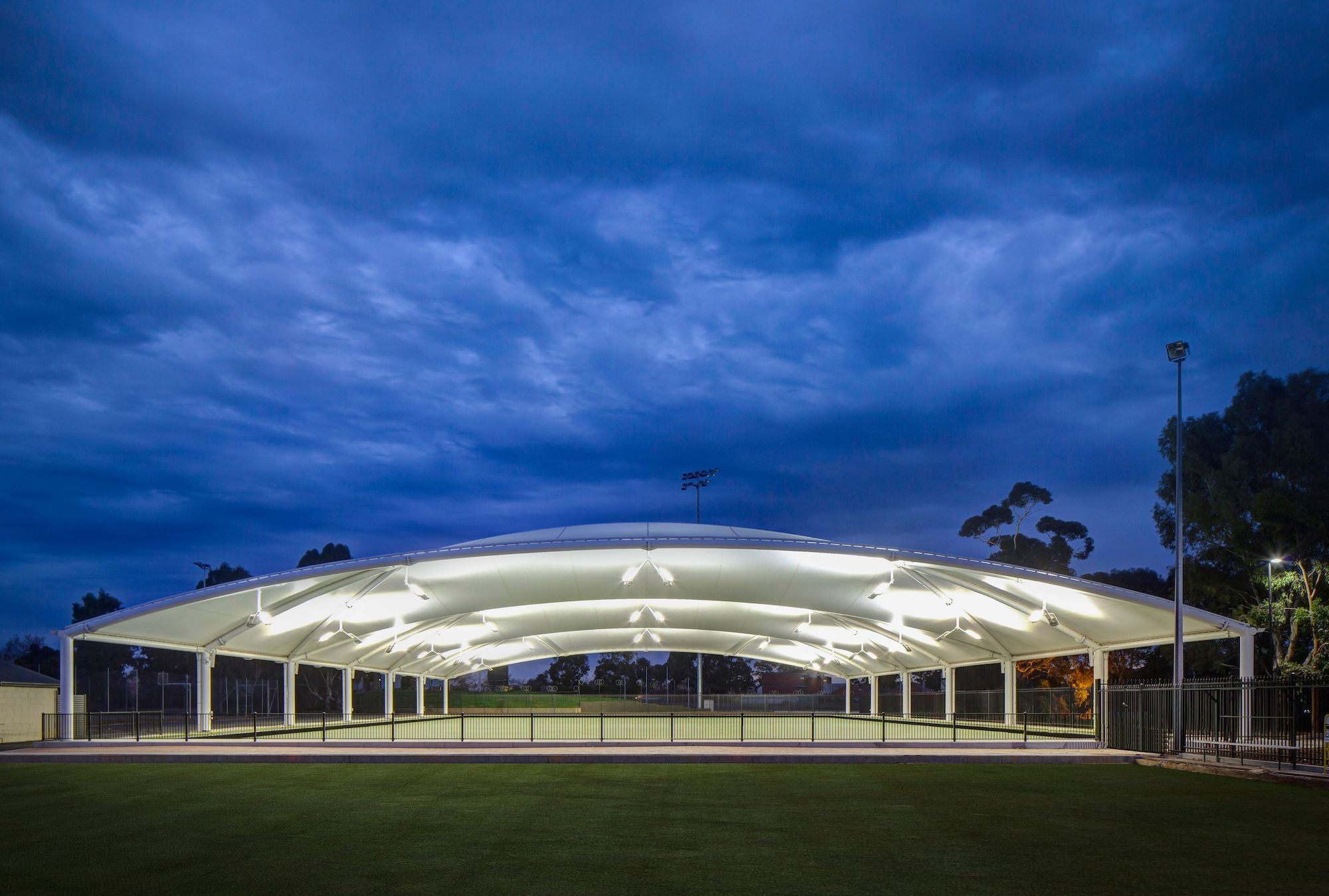 Torrensville Bowls Club dome complete with Andromeda LED Flood Lights