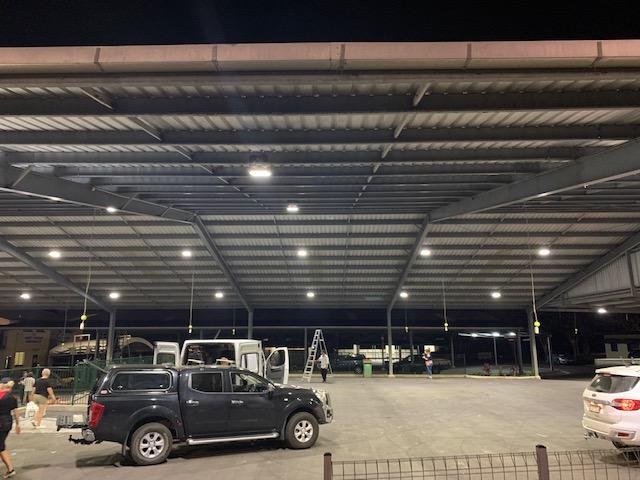 Improved LED Ceramic Flood lights for The Pavilion