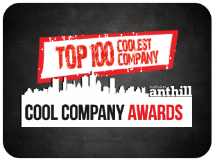 badge - 2 - top 100 coolest company